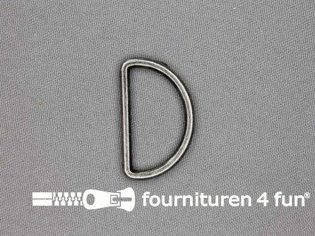 D-ring 30mm zwart zilver rond