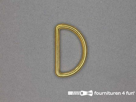 D-ring 30mm goud rond