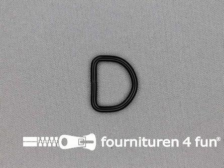 Heavy duty D-ringen 20mm zwart rond