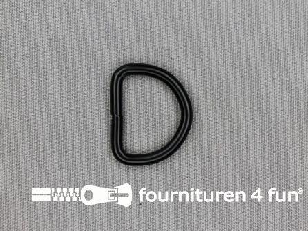 Heavy duty D-ringen 26mm zwart rond