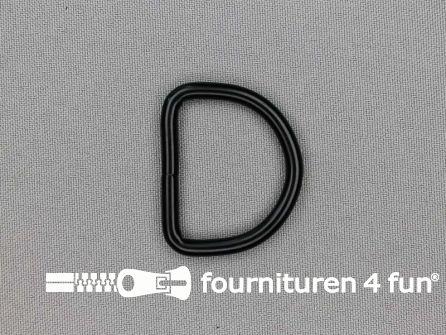 Heavy duty D-ringen 32mm zwart rond