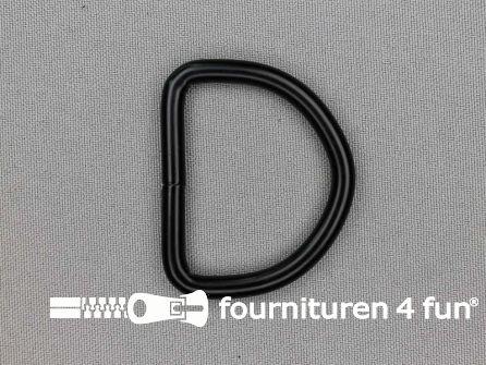 Heavy duty D-ringen 40mm zwart rond