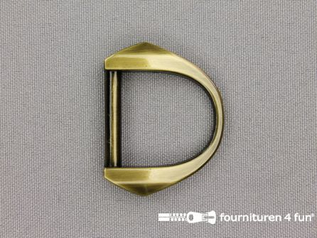 Luxe D-ring 25mm brons