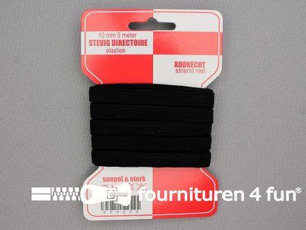 Directoire elastiek 10mm - zwart - 5 meter