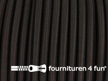 Elastisch koord 4,5mm heel donker bruin