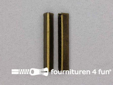 Eindstuk voor tassenband of riem 48mm brons