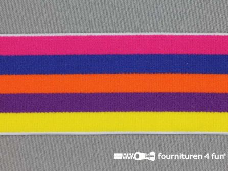Elastiek strepen 40mm multicolor