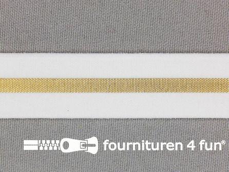 Elastiek met gouden streep 20mm