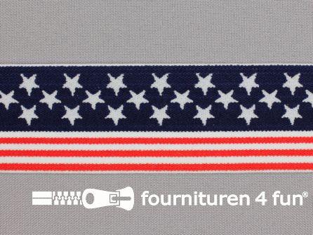 Elastiek Verenigde Staten - Stars and Stripes -  38mm