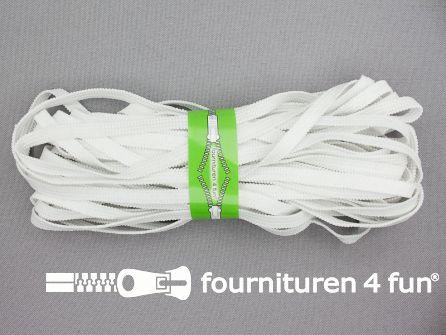 10 meter soepel elastiek 6mm wit
