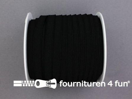 Rol 25 meter soepel elastiek 8mm zwart