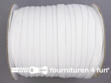 Rol 100 meter zacht elastiek 10mm wit