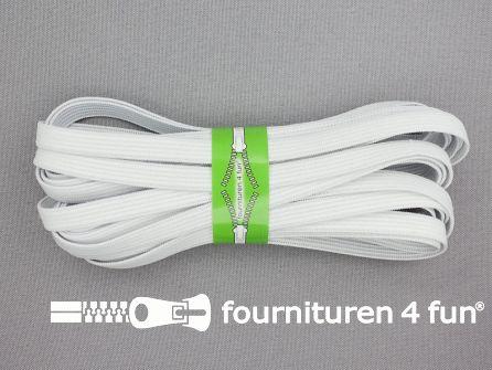 4,5 meter soepel elastiek 8mm wit