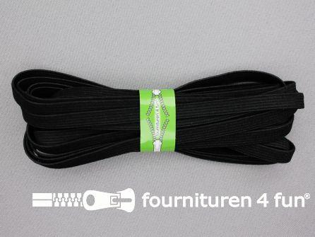 4,5 meter soepel elastiek 8mm zwart