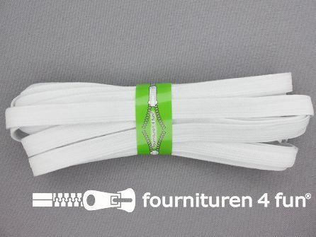 5 meter zacht elastiek 10mm wit