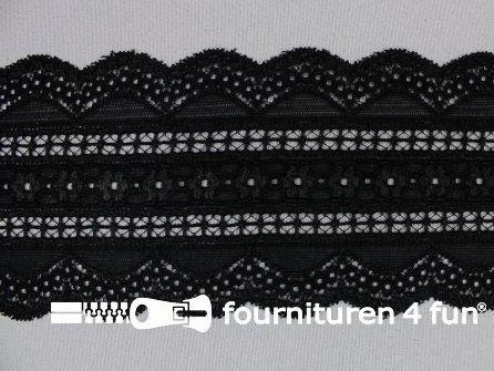 Elastisch kant 98mm zwart