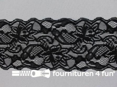 Elastisch kant 85mm zwart