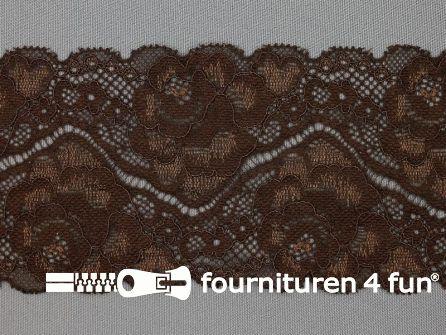 Elastisch kant 80mm donker bruin