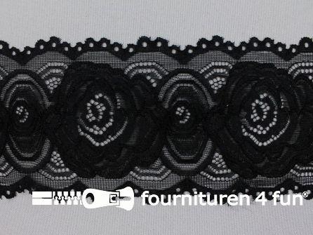 Elastisch kant 95mm zwart