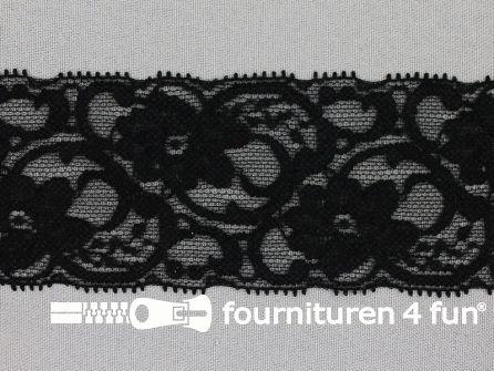 Elastisch kant 55mm zwart