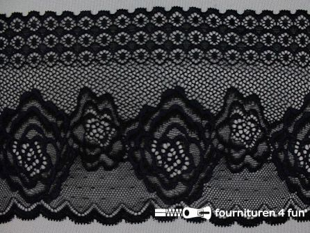 Elastisch kant 135mm zwart