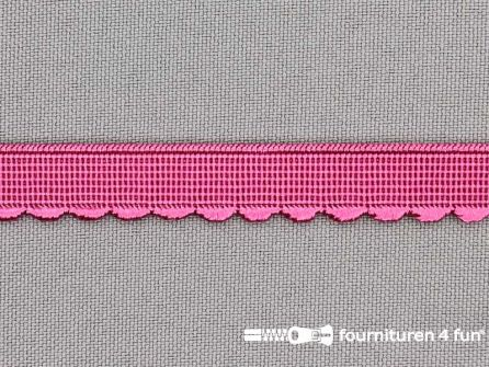 Elastisch kant 10mm fuchsia roze