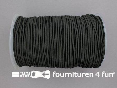 Rol 100 meter elastisch koord 2mm zwart