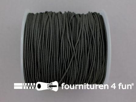 Rol 100 meter elastisch koord 1,5mm zwart