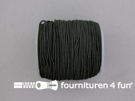 Rol 100 meter elastisch koord 1mm zwart