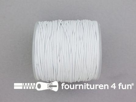 Rol 100 meter elastisch koord 1mm wit