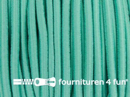 Rol 50 meter elastisch koord 3mm turquoise