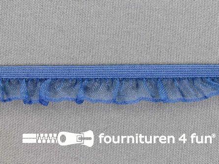 Elastisch ruche band 15mm jeans blauw