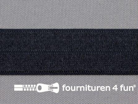 Rol 25 meter elastische biasband 20mm donker blauw