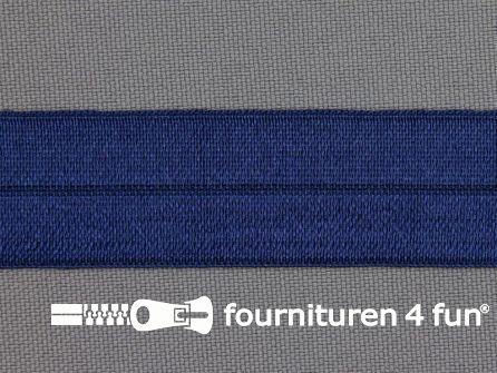 Rol 25 meter elastische biasband 20mm konings blauw