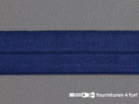 Elastische biasband 20mm konings blauw