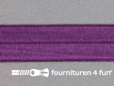 Rol 25 meter elastische biasband 20mm aubergine paars