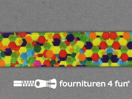 Elastische biasband 18mm multicolor