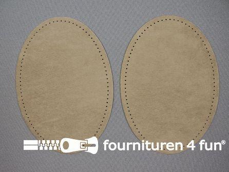 Elleboogstukken / kniestukken suèdine 140x100mm beige