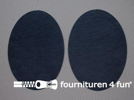 Elleboogstukken / kniestukken suèdine 140x100mm donker jeans blauw