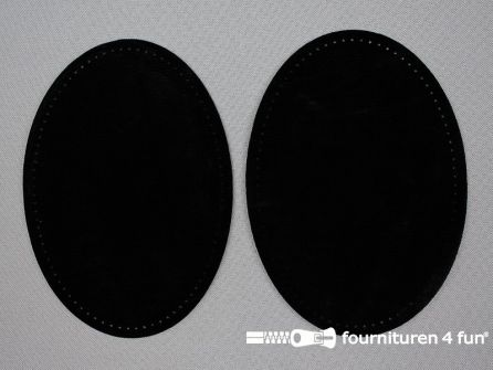 Elleboogstukken / kniestukken suèdine 140x100mm zwart