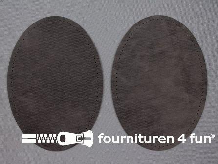 Elleboogstukken / kniestukken suèdine 140x100mm donker grijs