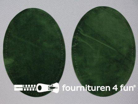 Elleboogstukken / kniestukken suèdine  140x100mm flessen groen