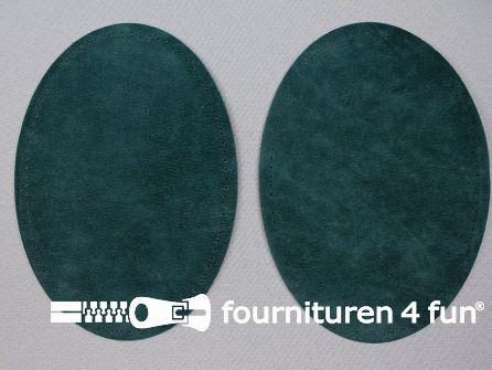 Elleboogstukken / kniestukken suèdine 140x100mm donker groen