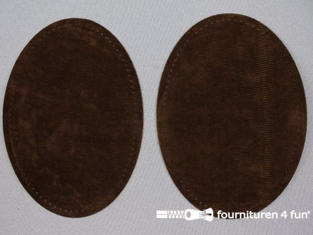 Elleboogstukken / kniestukken suèdine 140x100mm donker bruin