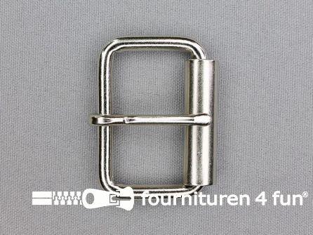 Heavy duty metalen rolgesp 40mm zilver