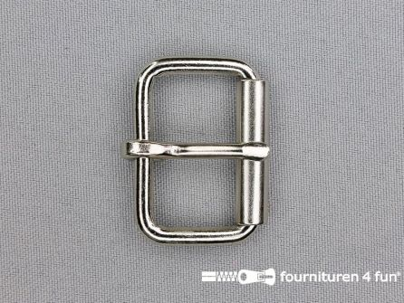 Heavy duty metalen rolgesp 30mm zilver