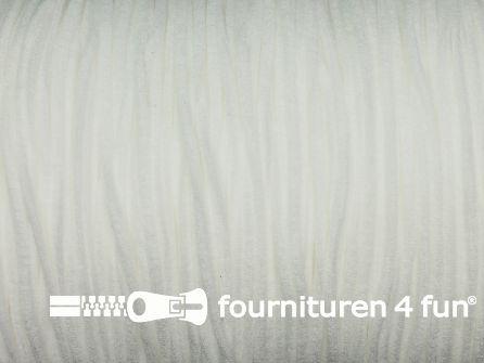 6 Meter extra zachte mondkapjes elastiek 2,5mm off white - supersoft