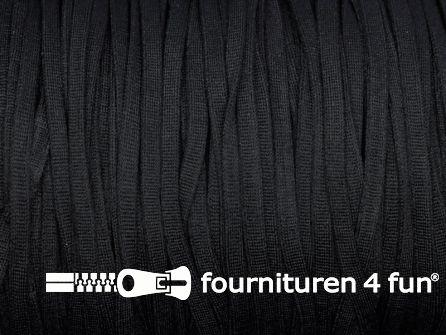 5 Meter extra zachte mondkapjes elastiek 5mm zwart - supersoft