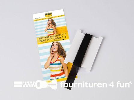 Vlieseline® Flexibel naadband zwart per 5 meter