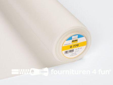 COUPON 2 meter x 75cm Vlieseline® G770 bi elastisch ecru - MET VLEKKEN